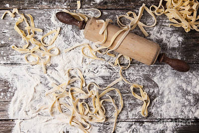 Raw Homemade Pasta With Rolling Pin Original