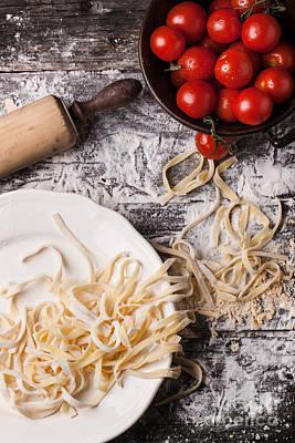 Raw Homemade Pasta With Tomatoes Original by Natasha Breen