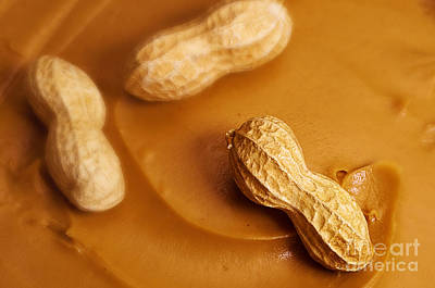 Photograph - Raw Peanut In Peanut Butter by Danny Hooks