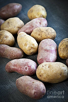 Raw Potatoes Art Print by Elena Elisseeva