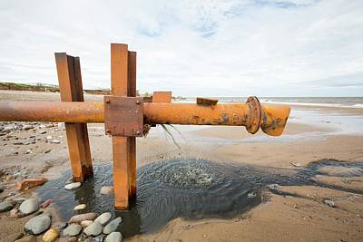 Sewage Photograph - Raw Sewage Emptying Onto The Beach by Ashley Cooper