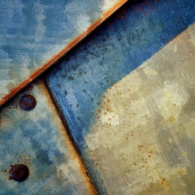 Raw Steel...blue Art Print by Tom Druin