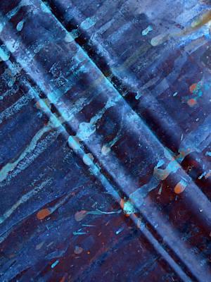 Raw Steel...upstream Art Print by Tom Druin