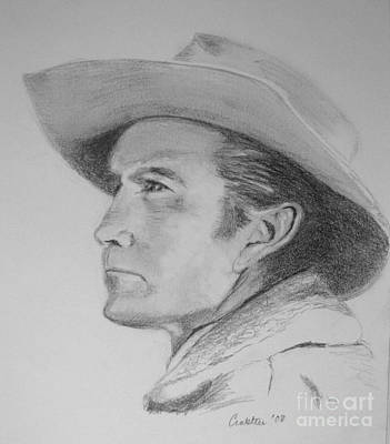 Cattle Drive Drawing - Rawhide's Gil Favor  by Elizabeth Crabtree