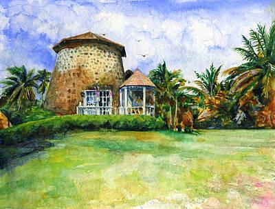 Painting - Rawlin's Plantation Inn St. Kitts by John D Benson