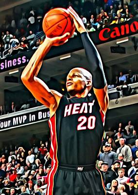Ray Allen Art Print by Florian Rodarte