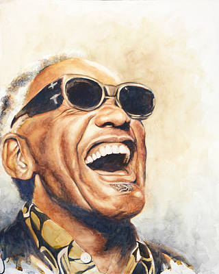 Laugh Painting - Ray Charles by Adrienne Norris
