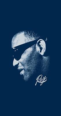 Charles Digital Art - Ray Charles - Blue Ray by Brand A