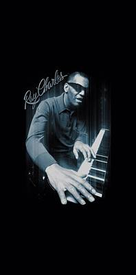 Charles Digital Art - Ray Charles - Blues Piano by Brand A
