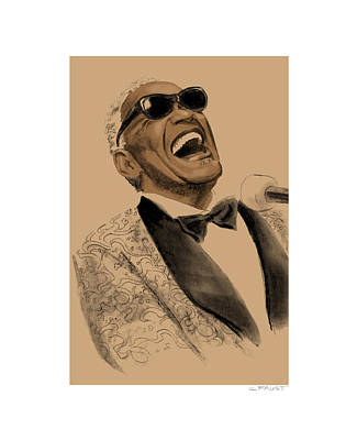 Drawing - Ray Charles by Clifford Faust