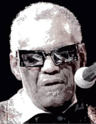 Drawing - Ray Charles  - Cross Hatching by Samuel Majcen