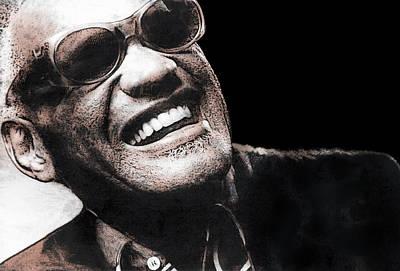 African American Man Digital Art - Ray Charles by Daniel Hagerman