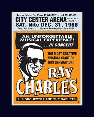 Ray Charles Art Print by Gary Grayson