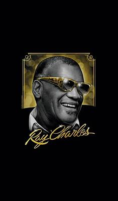 Charles Digital Art - Ray Charles - Golden Glasses by Brand A