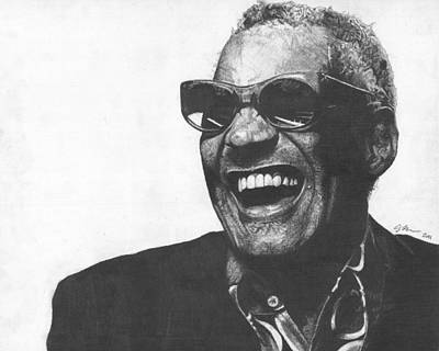 Ray Charles Art Print by Jeff Ridlen