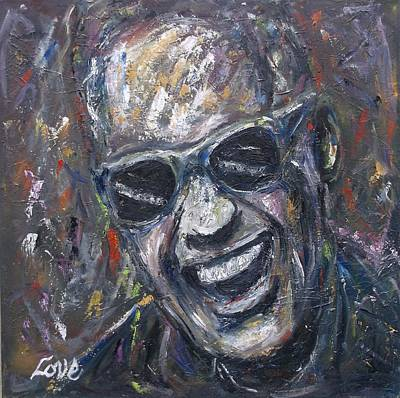 Painting - Ray Charles by Joseph Love