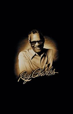 Charles Digital Art - Ray Charles - Sepia by Brand A