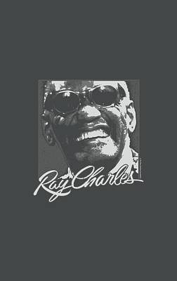 Charles Digital Art - Ray Charles - Signature Glasses by Brand A