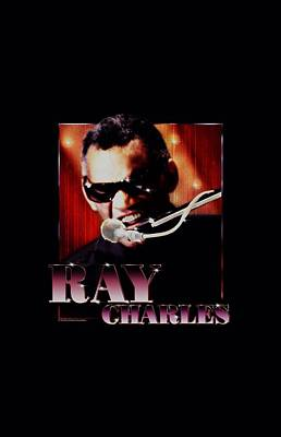 Charles Digital Art - Ray Charles - Sing It by Brand A