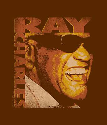 Charles Digital Art - Ray Charles - Singing Distressed by Brand A