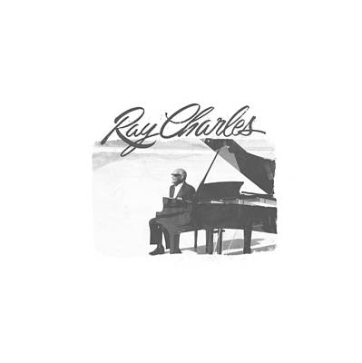 Charles Digital Art - Ray Charles - Sunny Ray by Brand A