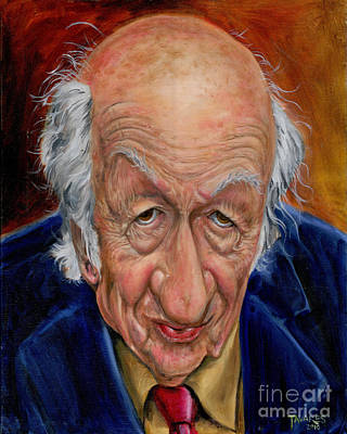 Painting - Ray Harryhausen by Mark Tavares