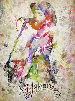Musicians Royalty Free Images - Ray Lamontagne Portrait Royalty-Free Image by Aged Pixel
