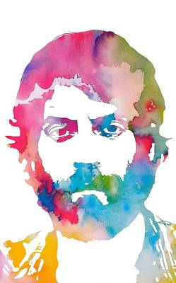 Soul Man Painting - Ray Lamontagne Watercolor by Dan Sproul