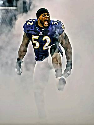 Rays Painting - Ray Lewis by Florian Rodarte