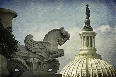 Chimera Photograph - Rayburn Gargoyle by Terry Rowe