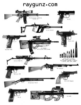 Weapons Photograph - Raygunz Poster by Ray Gunz