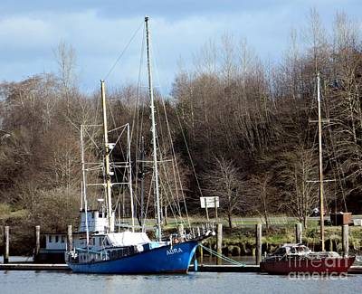 Photograph - Raymond Fishing Boats by Chalet Roome-Rigdon