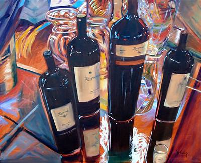 Raymond Winery Painting - Raymond Vineyards Crystal Cellar by Donna Tuten