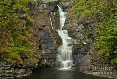Photograph - Raymondskill Falls Landscape by Adam Jewell