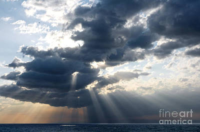 Rays And Clouds Art Print