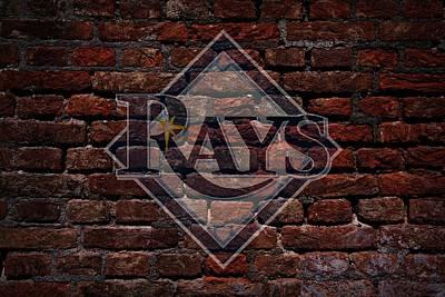 Centerfield Photograph - Rays Baseball Graffiti On Brick  by Movie Poster Prints