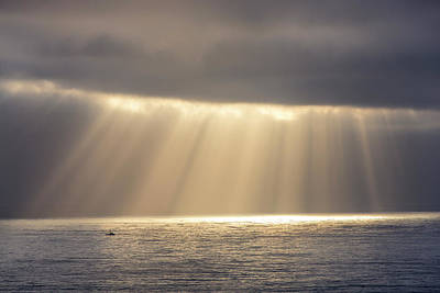 Ocean Power Photograph - Rays Emit From The Clouds by Chuck Haney