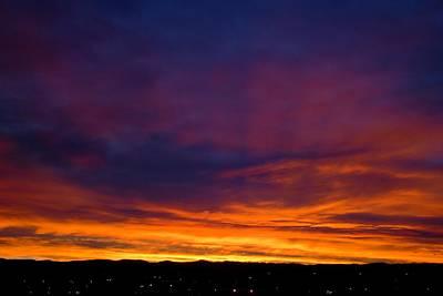 Photograph - Rays Of Evening Fire by Dakota Light Photography By Dakota