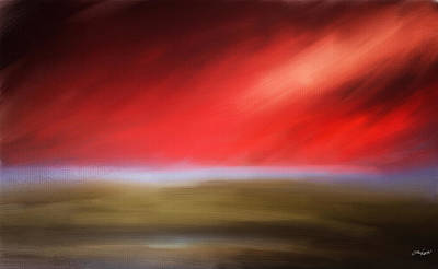 Red Abstract Digital Art - Rays Of Grandeur by Lourry Legarde