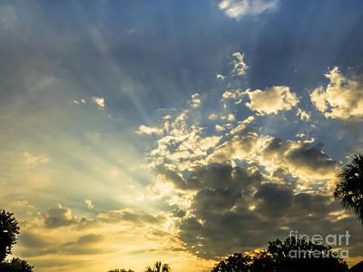 Florida Sunset Photograph - Rays Of Sunlight 2 by Zina Stromberg