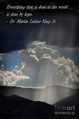 Granger Royalty Free Images - Rays of Sunlight on Peaceful Mountains Royalty-Free Image by Lane Erickson