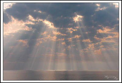 Photograph - Rays On The Gulf by Mariarosa Rockefeller