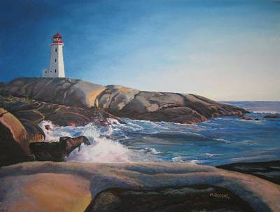 Salt Air Painting - Ray's Peggy's Cove by Marcel Quesnel