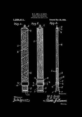 Shaving Digital Art - Razor Strop Protector 1920 Scotts by Lesa Fine