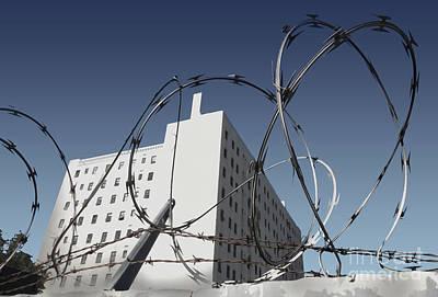 Razor Wire In Skid Row Art Print by Gregory Dyer