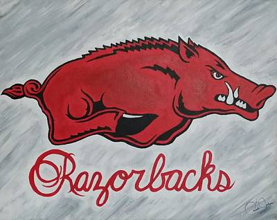 Razorbacks Forever Print by Russten Johnson