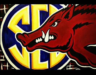 razorbacks SEC Print by Russten Johnson