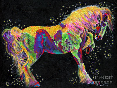 Painting - Razzle Dazzle Gypsy Cob by Louise Green