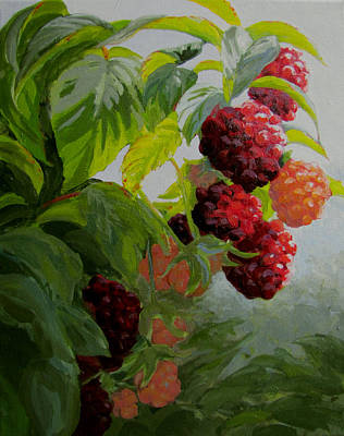 Painting - Razzleberries by Karen Ilari