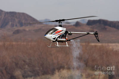 Plastic Scale Model Photograph - Rc Helicopter by Gunter Nezhoda